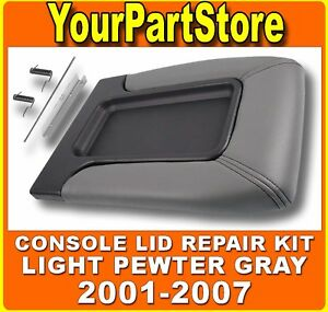 Chevy Silverado Front Seat Center Console Armrest Lid Med Pewter Gray Shale 92i