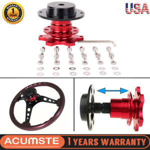 Car Steering Wheel Quick Release Hub Adapter Snap Off Body Removable Aluminium