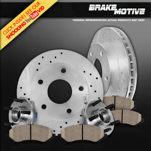 Front Rotors Hub Bearings Pads For 1999 2000 2004 Mustang Cobra Mach 1 Bullit