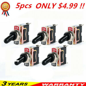 X5 Toggle Switch Heavy Duty 20a 125v Spst 2 Terminal On off Car Waterproof Atv