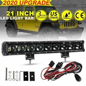6d 20inch Single Row Driving Off Road Led Light Bar For Jeep Suv 20 22 Wire