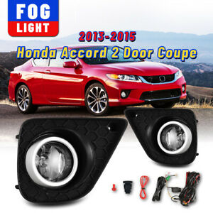 For 13 15 Honda Accord 2 Door Coupe Fog Lights Bumper Driving Lamp Wiring switch