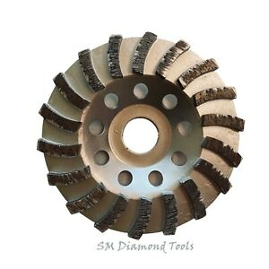 4 1 2 Turbo Cup Wheel With 18 Segment 7 8 Arbor Concrete Surface Grinding