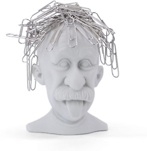 Magnetic Paper Clip Dispenser Gray Genius Paperclip Holder With A Magnetic Head