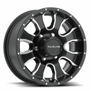 Raceline 860m Mamba 14x6 5x4 5 0 Machined Black Wheels 4 14 Inch Rims
