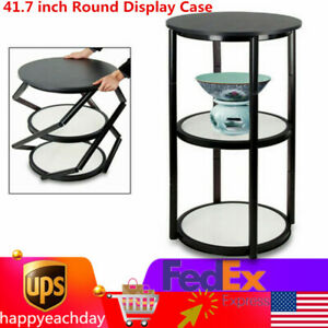 41 7 Inch Round Display Case Aluminum Spiral Tower Structure Portable Folded