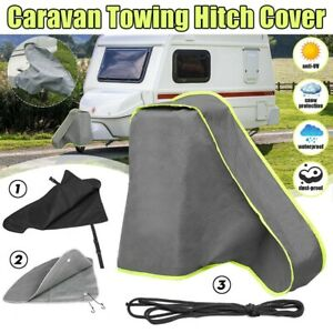 Grey Caravan Hitch Cover Universal Trailer Camping Towing Tow Ball Coupling Lock