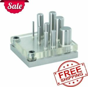 9 Pcs Punch And Die Set Hole Sheet Metal Steel Cutter Tool Puncher New