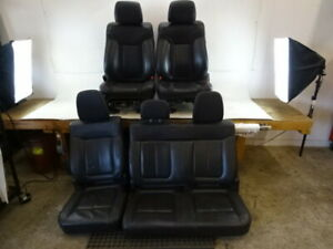 11 Ford F150 Raptor Seats Front And Rear Leather Black