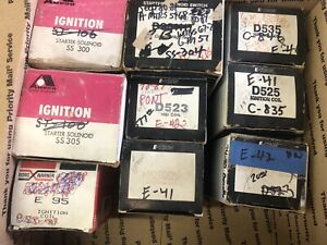 Lot Of 9 Vintage Ignition Coils Starter Solenoid Ford Chevy Gmc