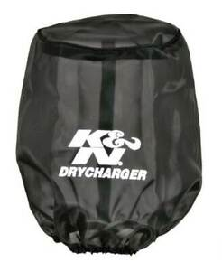 K N Drycharger Air Filter Wrap Round Tapered Black