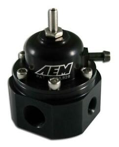 Aem For Universal Black Adjustable Fuel Pressure Regulator