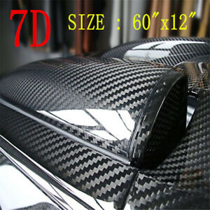 Car Auto 7d Gloss Carbon Fiber Vinyl Wrap Film Sticker Bubble Free Air Parts
