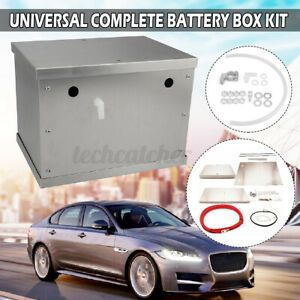 Universal Complete Aluminum Battery Tray Box Relocation Kit Polished Billet Us