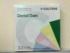 Coltene Whaledent Dental Rubber Dam Sheets Non latex Extra Strength size 6x6