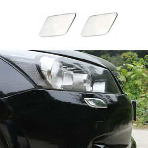 Fit For Honda Accord 2008 2010 Abs Chrome Headlight Cleaning Cover Decor Trim 2x