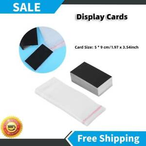 100pcs set Black Earring Display Cards With Self Adhesive Decoration Bags Craft