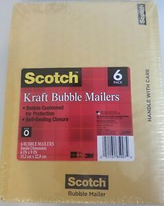 Scotch Bubble Mailer 7913 6 6 In X 9 In Size 0 36 Pack