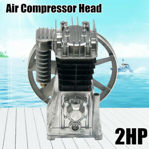 1 5kw Piston Air Compressor Pump For 2hp Motor Twin Cylinder silencer 175l min