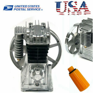 New 2hp Piston Twin Cylinder Air Compressor Head Pump Air Tools 175l min 1 5kw