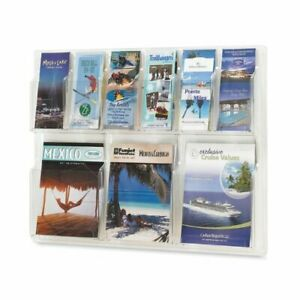 Safco 6 pamphlet And 3 magazine Literature Display Rack 22 2 Height X 30