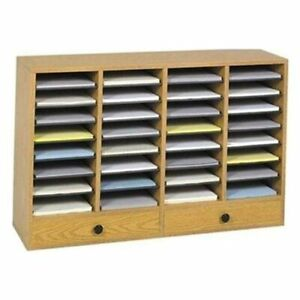 Safco 32 Compartments Adjustable Literature Organizer 25 3 Height X 39 3