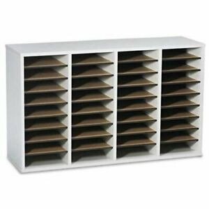 Safco 36 Compartment Adjustable Shelves Literature Organizer 24 Height X