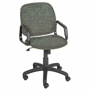 Safco Cava Urth High Back Chair Polyester Gray Seat Polyester Gray Back
