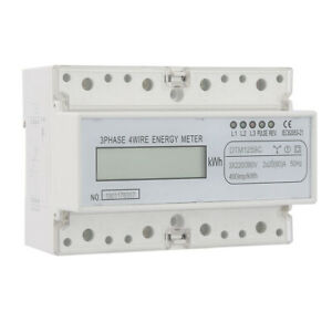 220 380v 20 80a Energy Consumption Digital Electricity Meter 3 phase Kwh Meter