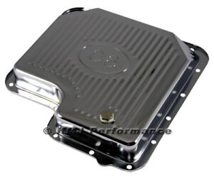 Ford C6 Automatic Transmission Pan Chrome Plated Steel Stock Capacity W Logo