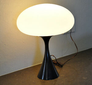 Vtg Laurel Mushroom Table Lamp Mid Century Modern Bill Curry 1960s Atomic