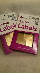 Os 721 Maco Notary Gold Seal Labels 2 1 4 inch Two 2 boxes