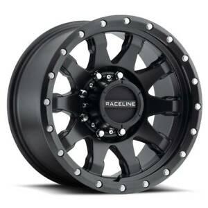 Raceline 934b Clutch 17x9 8x6 5 8x165 1 12 Black Wheels 4 17 Inch Rims
