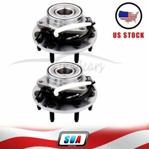 2x Front Fits F150 Heritage Svt Lightning Wheel Hub And Bearing Assembly W abs