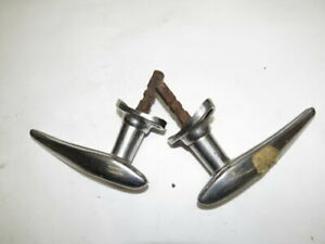 Nice Used 1936 Ford Outside Door Handles Pair Stainless Clad G 4 12