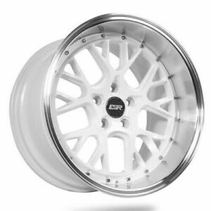 Esr Cs11 White Machined Lip Wheels 18x10 5 22 5x114 3 18 Inch Rims Set 4