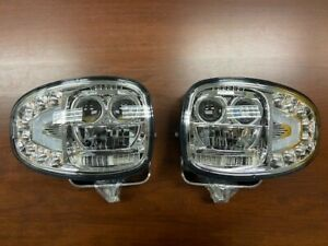 Set Of Heated Led Snow Plow Lamps Lights Buyers Meyer Hiniker Snoway Replacement