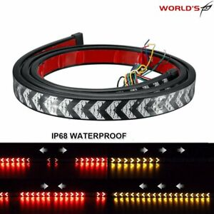 Truck Tailgate Strip 40 Led Sequential Turn Signal Brake Tail Reverse Light Bar