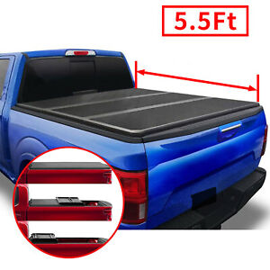 5 5 Hard Tri Fold Bed Tonneau Cover For 06 14 Lincoln Mark Lt 04 14 Ford F150