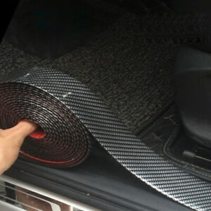 Parts Accessories Car Stickers Carbon Fiber Auto Scuff Plate Door Sill 5d Panel