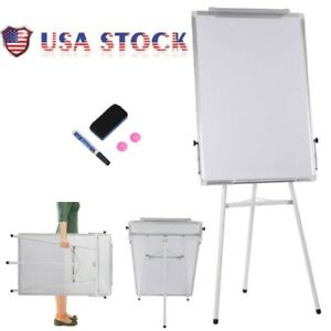 36x24 Magnetic Dry Erase Easel White Board Tripod Stand Display Adjustable Us