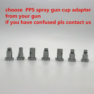 Pps Spray Gun Cup Adapter Connector Pot Joints Paint Preparation System New