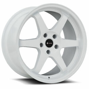 Vors Tr37 18x9 5 5x114 3 35 White Wheels 4 73 1 18 Inch Rims
