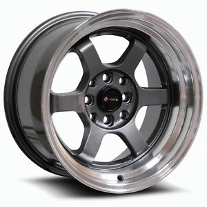 Vors Tr7 15x8 4x100 4x114 3 0 Gun Metal Wheels 4 73 1 15 Inch Rims