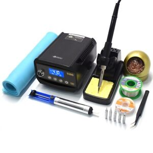 60w Smd Rework Soldering Station Iron Kit Lcd Digital Heat Insulation Silicone