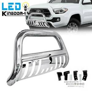 Stainless Steel Bull Bar For 05 15 Toyota Tacoma 3 Push Bumper Grille Guard