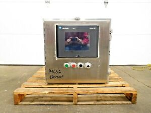 Mo 3919 Stainless Sce Electrical Enclosure W Allen Bradley Panelview 1000