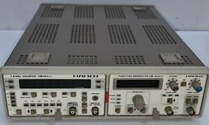 Hameg Dual Mainframe Function Generator Hm 8030 5 1 6 Ghz Counter Hm 8021 3