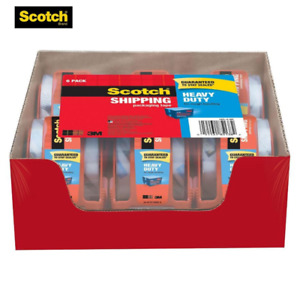 Hot Scotch Heavy Duty Packaging Tape Value Pack Of 6 Rolls 1 88 X 22 2 Yds