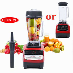 No Bpa 2l Heavy Duty Grade Blender Mixer Juicer Food Processor Ice 1500w Us